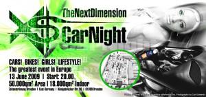 XS Car Night 2009 Flyer